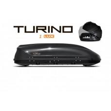 Автобокс на крышу Белый Turino 1 LUX  (410 л) с двусторонним открыванием PT GROUP