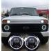 Фары универсальные светодиодные 7 дюймов  (Нива,Уаз,Jeep,Toyota,Nissan)